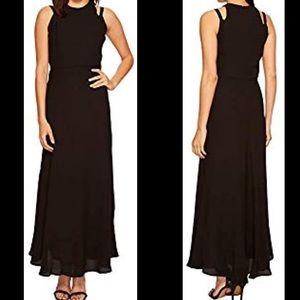 Taylor Georgette black maxi dress NWT, 4